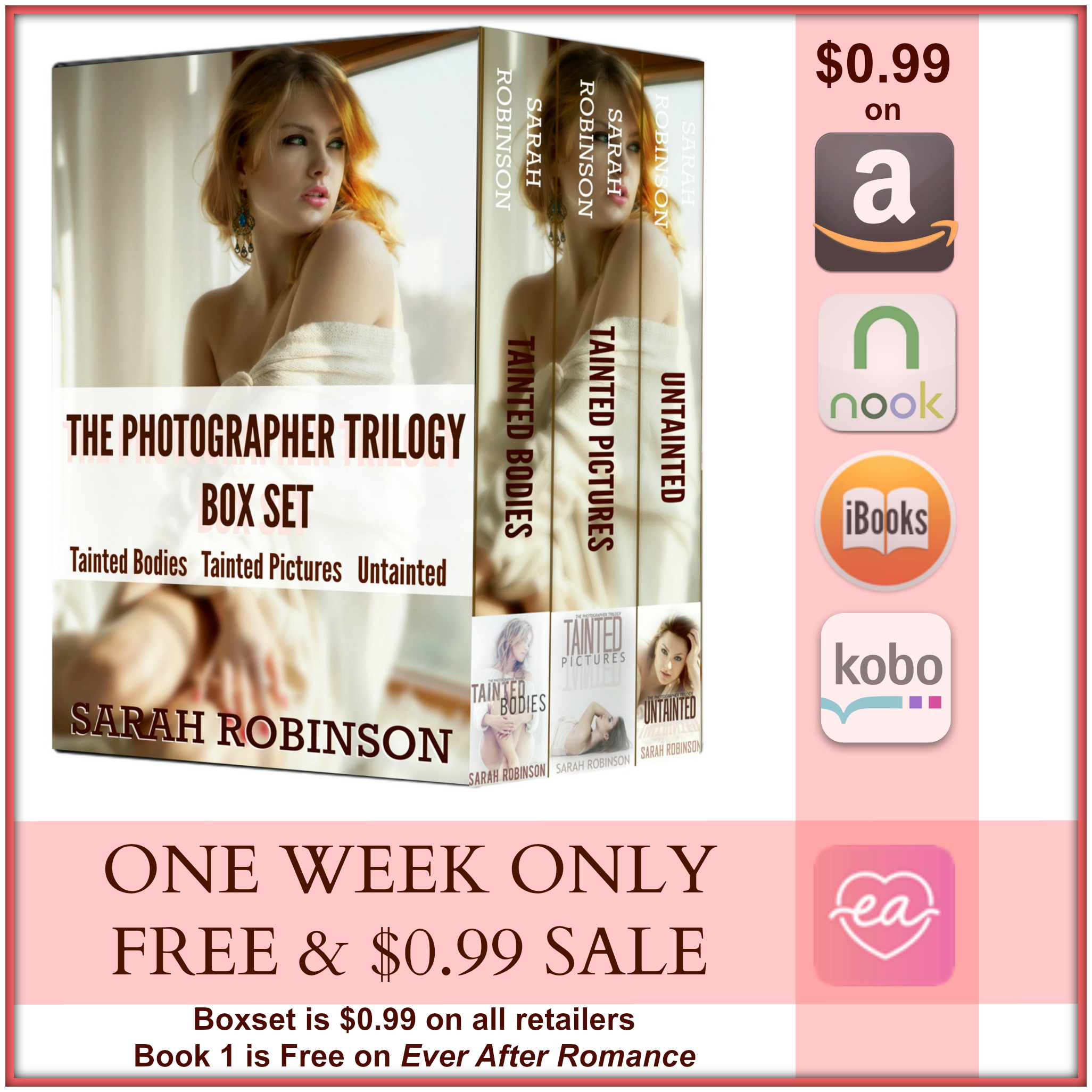 one week sale boxset square graphic