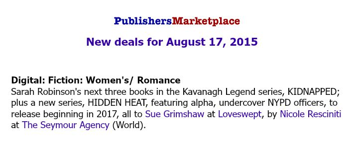 Publishers Marketplace Announcement
