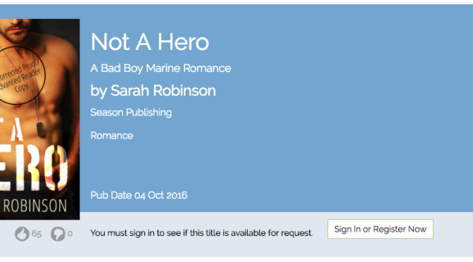 Reviewers: NOT A HERO is on NetGalley!
